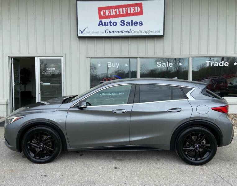 2018 Infiniti QX30 for sale at Certified Auto Sales in Des Moines IA