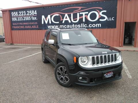 2016 Jeep Renegade for sale at MC Autos LLC in Pharr TX