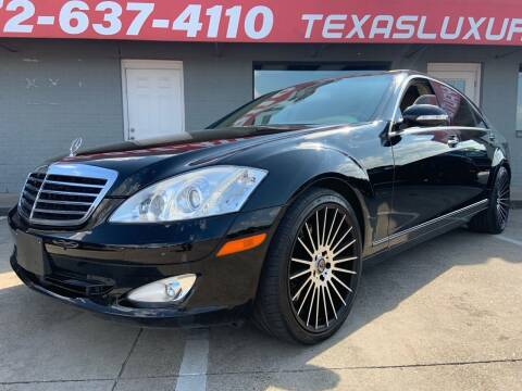 2008 Mercedes-Benz S-Class for sale at Texas Luxury Auto in Cedar Hill TX