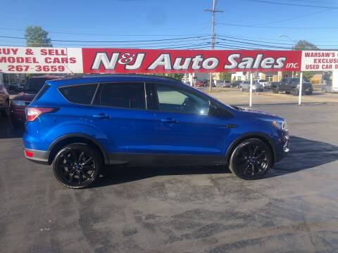 2017 Ford Escape for sale at N & J Auto Sales in Warsaw IN