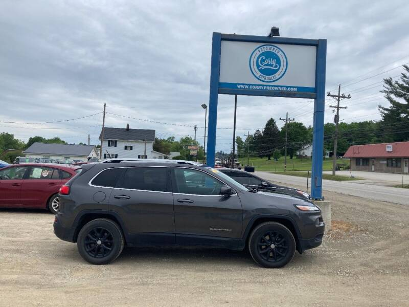 2014 Jeep Cherokee for sale at Corry Pre Owned Auto Sales in Corry PA