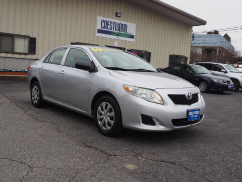 2009 Toyota Corolla for sale at Crestwood Auto Sales in Swansea MA