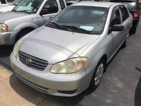 2003 Toyota Corolla for sale at Sartins Auto Sales in Dyersburg TN