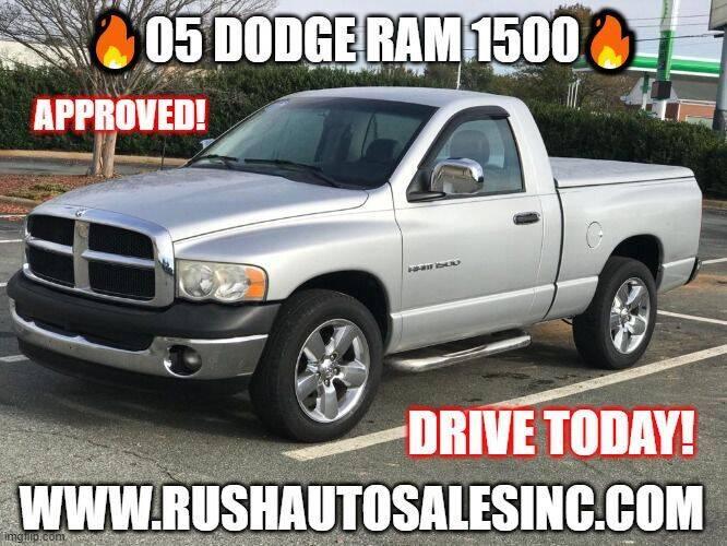 2005 Dodge Ram Pickup 1500 for sale at RUSH AUTO SALES in Burlington NC