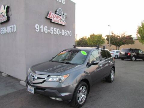 2008 Acura MDX for sale at LIONS AUTO SALES in Sacramento CA