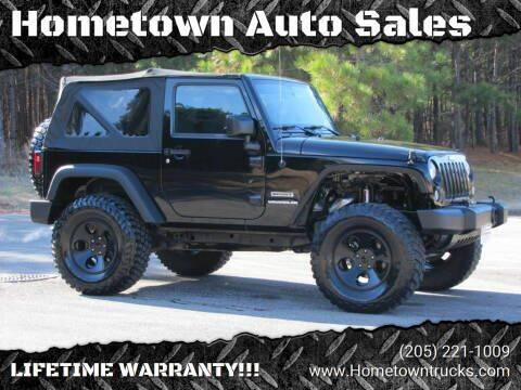 2014 Jeep Wrangler for sale at Hometown Auto Sales - SUVS in Jasper AL