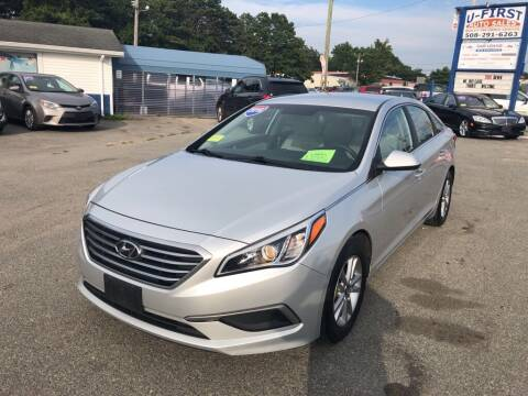 2016 Hyundai Sonata for sale at U FIRST AUTO SALES LLC in East Wareham MA
