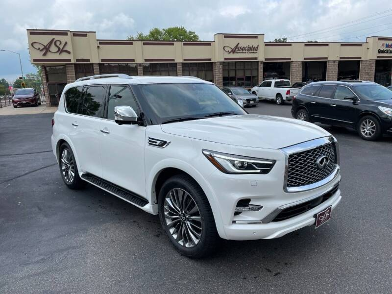 2021 Infiniti QX80 for sale at ASSOCIATED SALES & LEASING in Marshfield WI