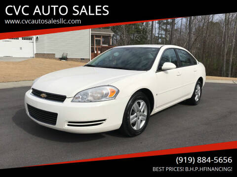 2007 Chevrolet Impala for sale at CVC AUTO SALES in Durham NC