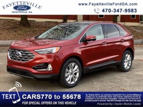 2020 Ford Edge for sale at FAYETTEVILLEFORDFLEETSALES.COM in Fayetteville GA
