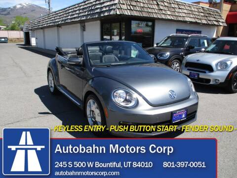 2013 Volkswagen Beetle Convertible for sale at Autobahn Motors Corp in Bountiful UT