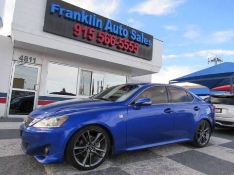 2012 Lexus IS 250 for sale at Franklin Auto Sales in El Paso TX