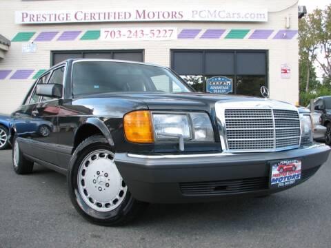 1990 Mercedes-Benz 420-Class for sale at Prestige Certified Motors in Falls Church VA