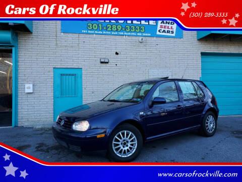2004 Volkswagen Golf for sale at Cars Of Rockville in Rockville MD