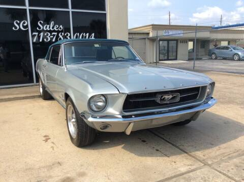 1967 Ford Mustang for sale at SC SALES INC in Houston TX