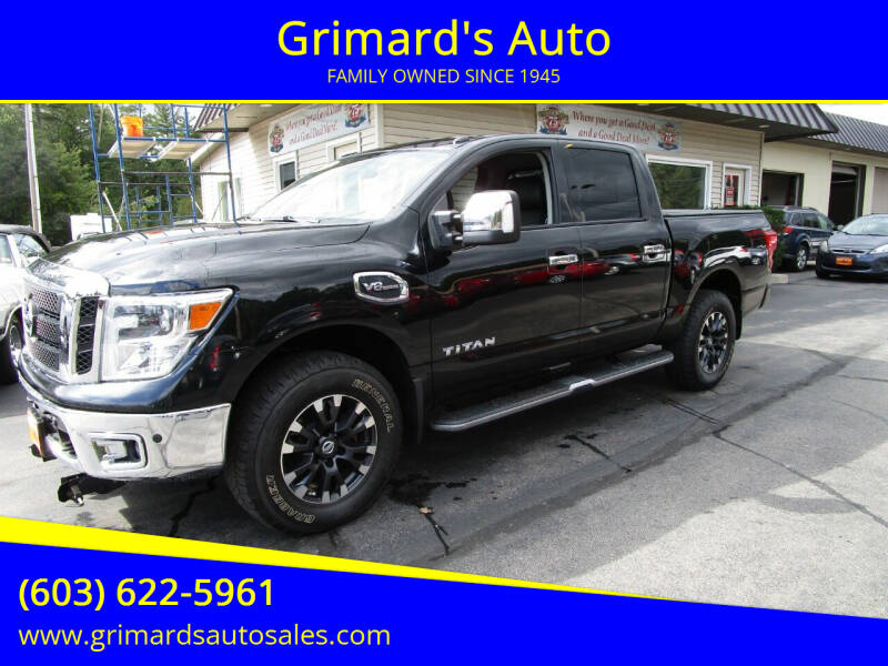 2017 Nissan Titan for sale at Grimard's Auto in Hooksett NH