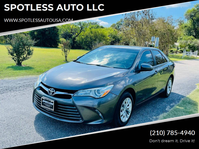 2016 Toyota Camry for sale at SPOTLESS AUTO LLC in San Antonio TX