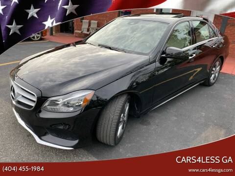 2016 Mercedes-Benz E-Class for sale at Cars4Less GA in Alpharetta GA