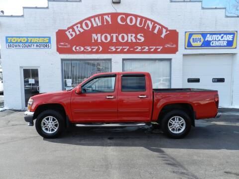 2012 GMC Canyon for sale at Brown County Motors in Russellville OH