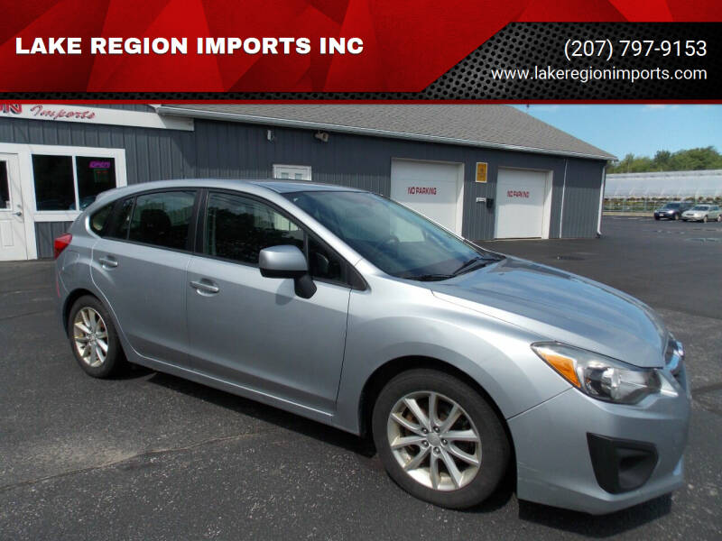 2013 Subaru Impreza for sale at LAKE REGION IMPORTS INC in Westbrook ME