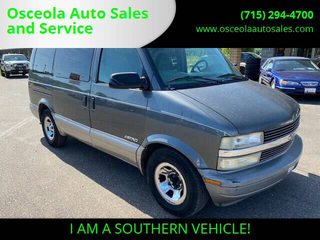 2002 Chevrolet Astro for sale at Osceola Auto Sales and Service in Osceola WI