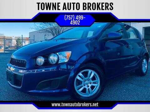 2012 Chevrolet Sonic for sale at TOWNE AUTO BROKERS in Virginia Beach VA
