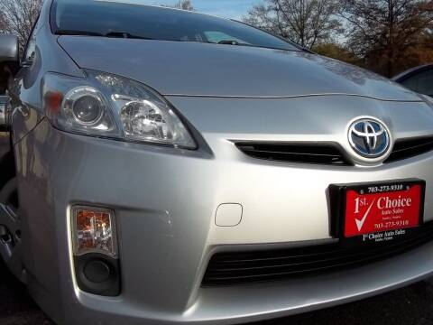 2011 Toyota Prius for sale at 1st Choice Auto Sales in Fairfax VA