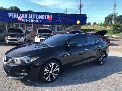 2016 Nissan Maxima for sale at Penland Automotive Group in Laurens SC