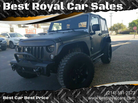 2015 Jeep Wrangler for sale at Best Royal Car Sales in Dallas TX
