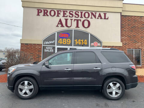 2015 GMC Acadia for sale at Professional Auto Sales & Service in Fort Wayne IN