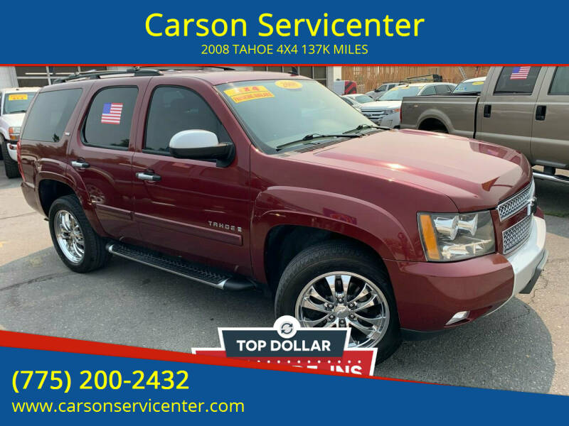 2008 Chevrolet Tahoe for sale at Carson Servicenter in Carson City NV