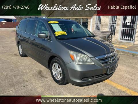 2007 Honda Odyssey for sale at Wheelstone Auto Sales in La Porte TX