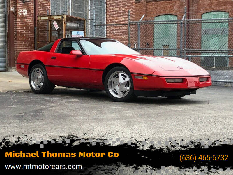 1989 Chevrolet Corvette for sale at Michael Thomas Motor Co in Saint Charles MO
