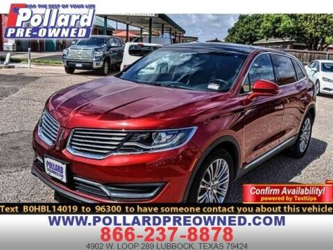 2017 Lincoln MKX for sale at South Plains Autoplex by RANDY BUCHANAN in Lubbock TX