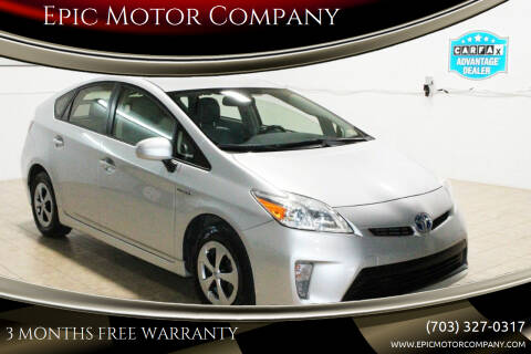 2013 Toyota Prius for sale at Epic Motor Company in Chantilly VA