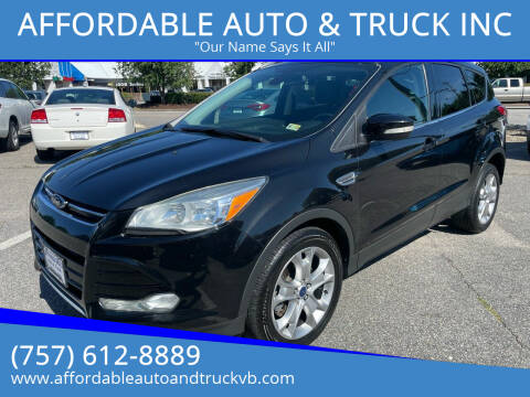 2014 Ford Escape for sale at AFFORDABLE AUTO & TRUCK INC in Virginia Beach VA