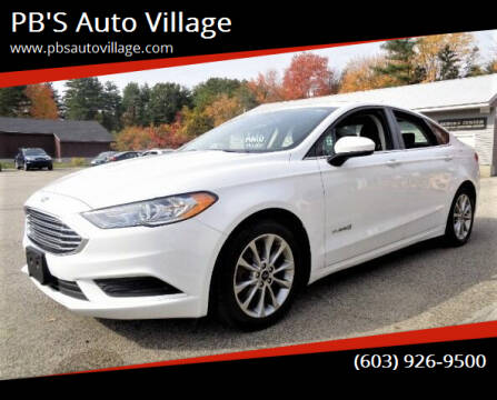 2017 Ford Fusion Hybrid for sale at PB'S Auto Village in Hampton Falls NH