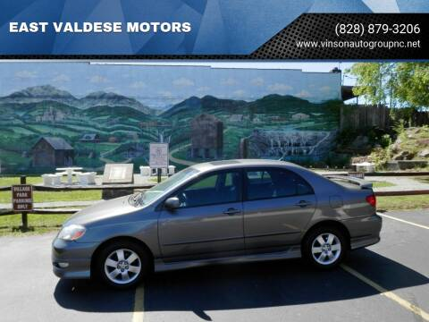 2006 Toyota Corolla for sale at EAST VALDESE MOTORS in Valdese NC