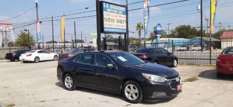 2015 Chevrolet Malibu for sale at S.A. BROADWAY MOTORS INC in San Antonio TX