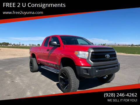 2016 Toyota Tundra for sale at FREE 2 U Consignments in Yuma AZ