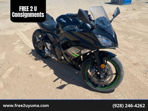 2019 Kawasaki Ninja for sale at FREE 2 U Consignments in Yuma AZ
