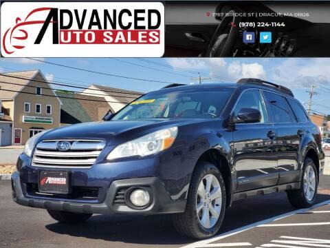 2013 Subaru Outback for sale at Advanced Auto Sales in Dracut MA