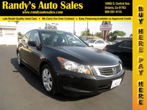 2010 Honda Accord for sale at Randy's Auto Sales in Ontario CA
