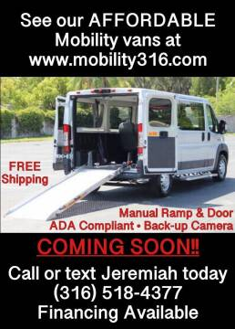 2016 RAM ProMaster Cargo for sale at Affordable Mobility Solutions, LLC - Mobility/Wheelchair Accessible Inventory-Wichita in Wichita KS