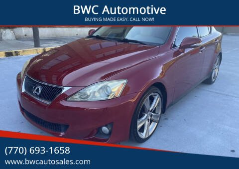 2012 Lexus IS 250 for sale at BWC Automotive in Kennesaw GA
