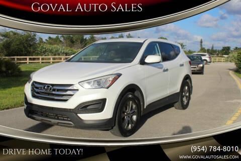 2015 Hyundai Santa Fe Sport for sale at Goval Auto Sales in Pompano Beach FL