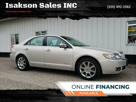 2009 Lincoln MKZ for sale at Isakson Sales INC in Waite Park MN