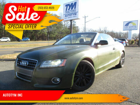 2011 Audi A5 for sale at AUTOTYM INC in Fredericksburg VA