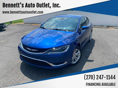 2016 Chrysler 200 for sale at Bennett's Auto Outlet, Inc. in Mayfield KY