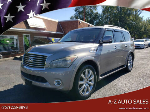 2011 Infiniti QX56 for sale at A-Z Auto Sales in Newport News VA